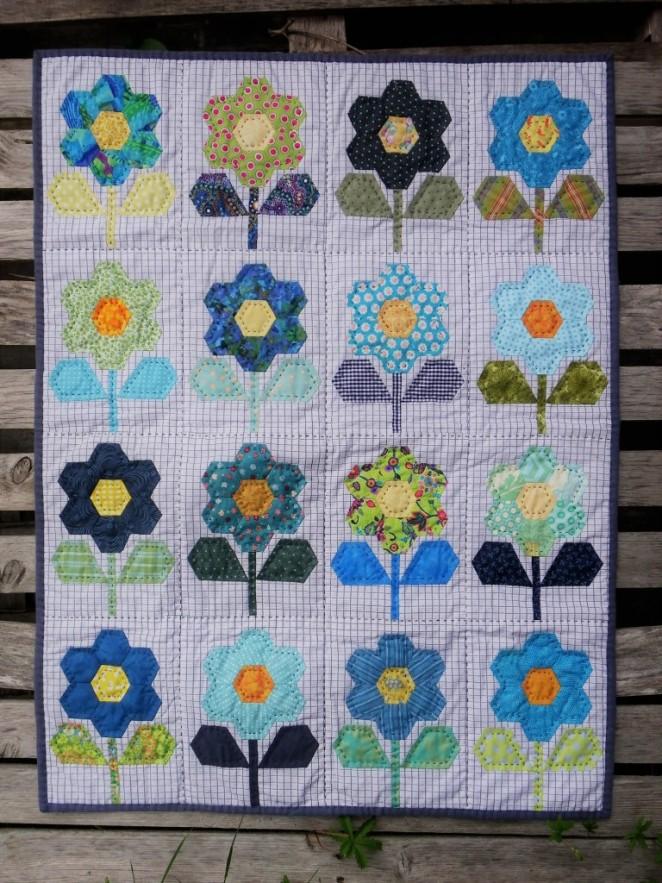 courtepointe fleurs EPP