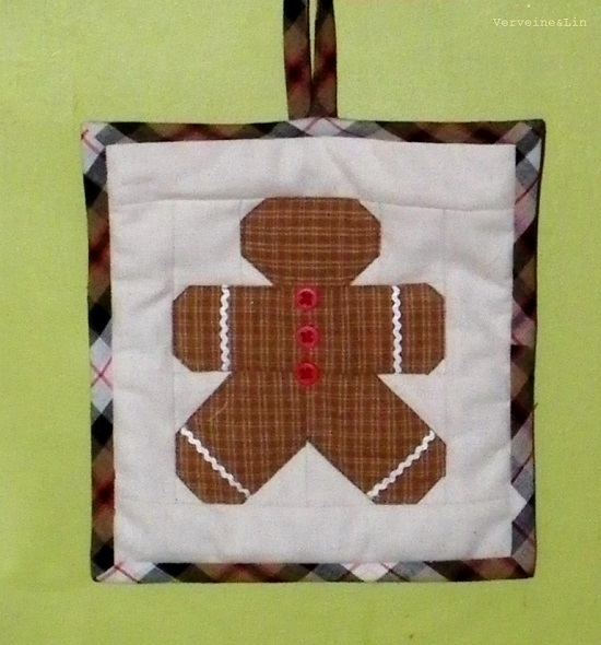 quilt miniature gingerman