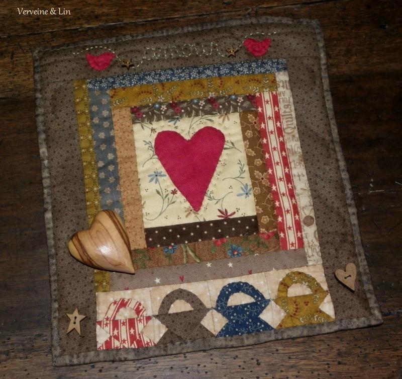 quilt miniature saint valentin