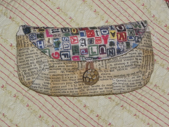 quilted glass pouch