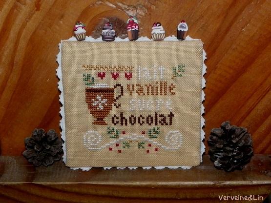 hot cocoa LHN cross stitch