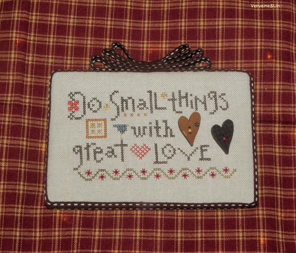 Do Small Things With Great Love Modèle de Lizzie Kate