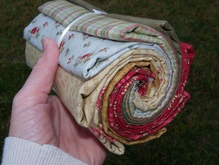 assortiment de tissus en vue d'un rag quilt
