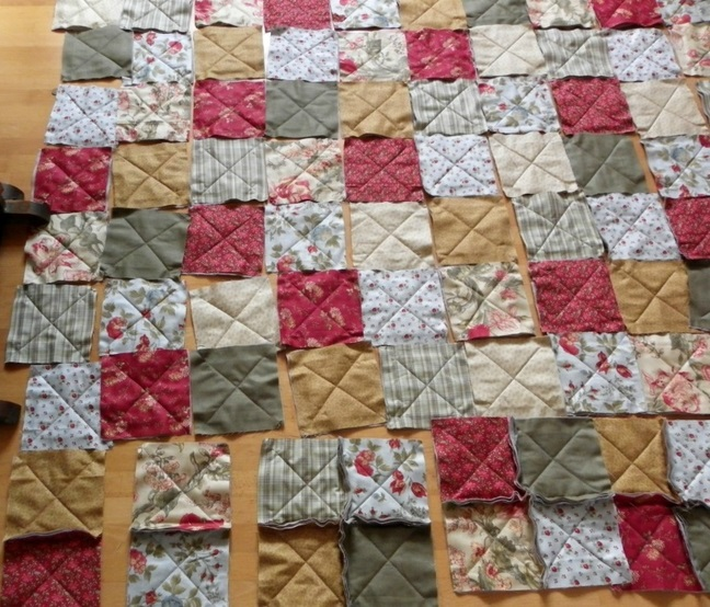 rag quilt work in progress