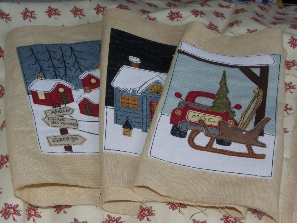 Le village du Père Noel livre textile de Scrap Quilt and Stitch