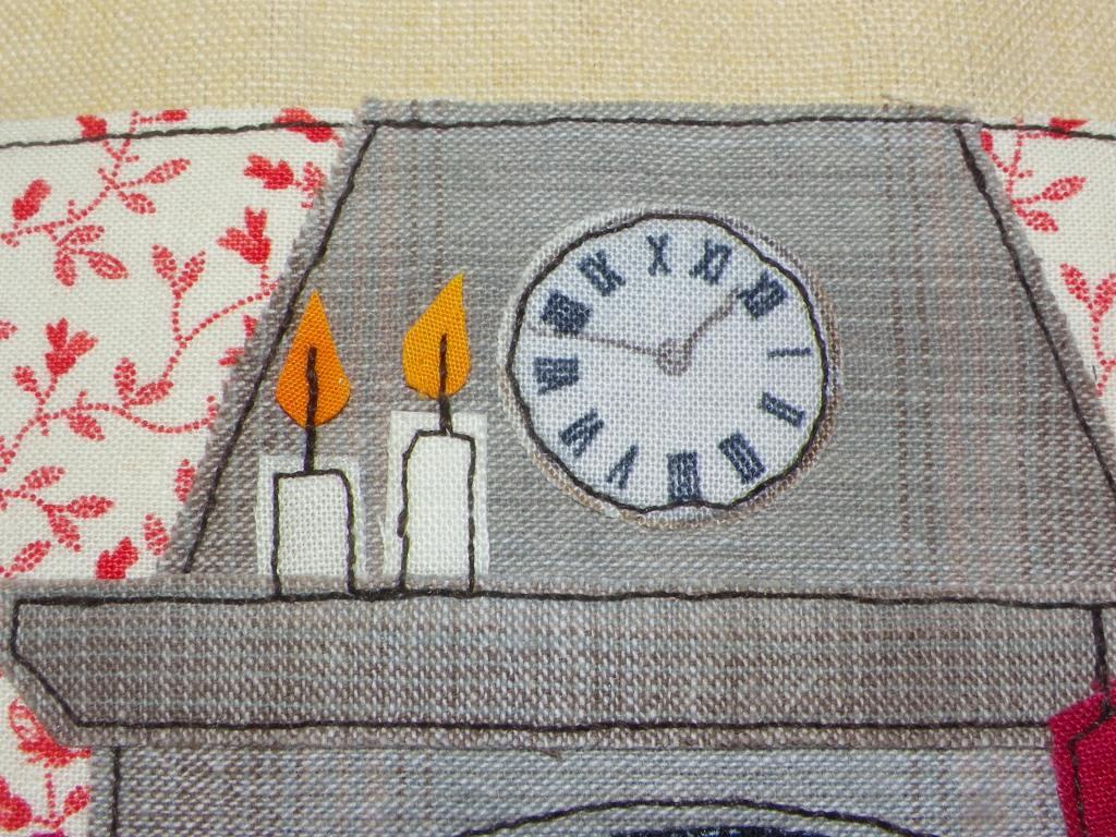 livre textile le village du père noël