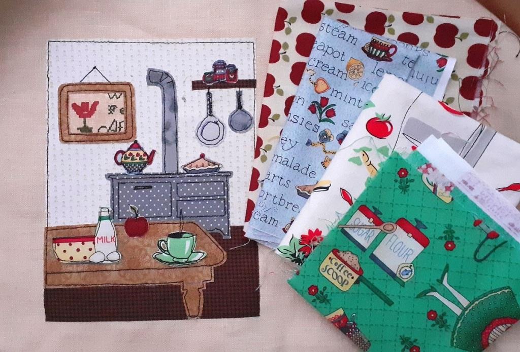 Livre textile de Noël en broderie et appliqué free motion