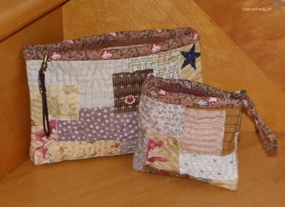 pochettes en kantha stitching